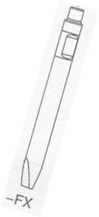 1x Flachmeißel für Hydraulikhammer ASB45 Ø 45 x 500mm