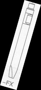 1x Flachmeißel für Hydraulikhammer ASB53 Ø 53 x 580mm