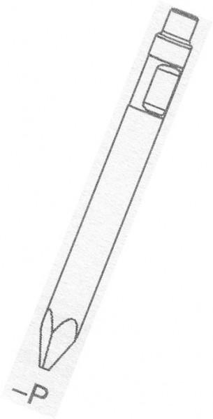 1x Spitzmeißel für Hydraulikhammer ASB45 Ø 45 x 500mm