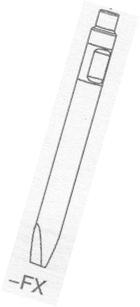 1x Flachmeißel für Hydraulikhammer ASB70 Ø 70 x 700mm